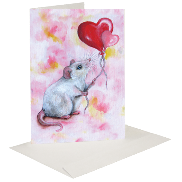 valentines mouse greeting card a beautiful card for